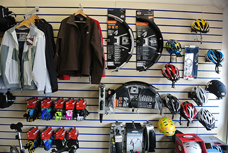 bike accessories, helmets gloves, clothing and bags at Active Cycles Richmond