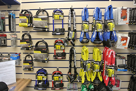 heavy duty bike locks at Active Cycles Richmond